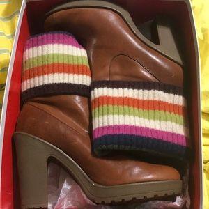 Coach heeled boots